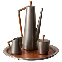 Royal Holland Pewter Four-Piece Coffee or Tea Serving Set