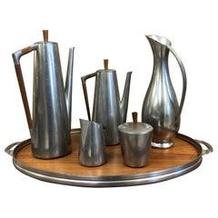 Royal Holland Six-Piece Pewter Tea Set
