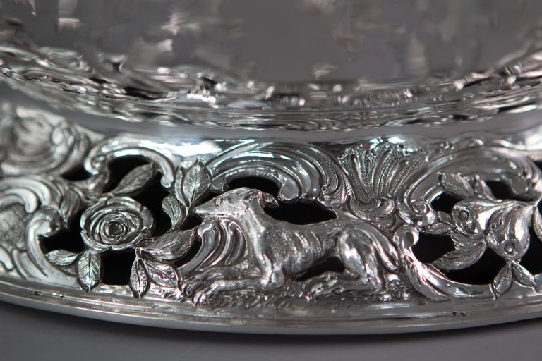 Royal Interest, a George II Silver Harvest Basket London 1759, by William Tuite For Sale 3