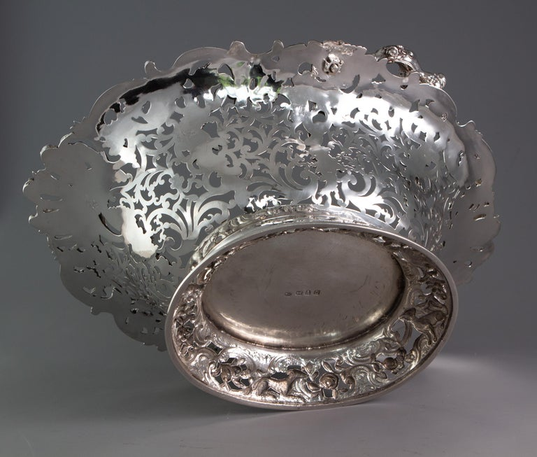 Royal Interest, a George II Silver Harvest Basket London 1759, by William Tuite For Sale 4