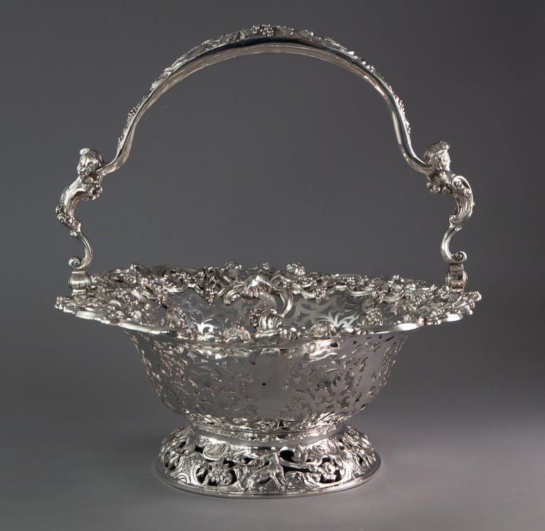 Royal Interest, a George II Silver Harvest Basket London 1759, by William Tuite For Sale 6