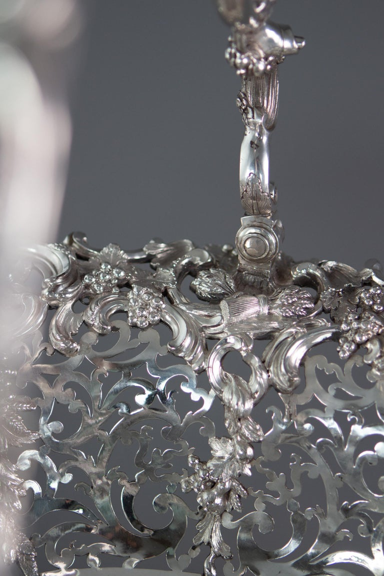 Royal Interest, a George II Silver Harvest Basket London 1759, by William Tuite For Sale 12