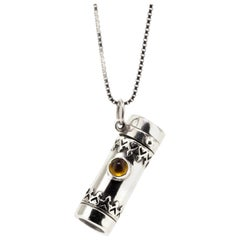Royal Kaleidoscope Necklace with Citrine, Handcrafted in USA