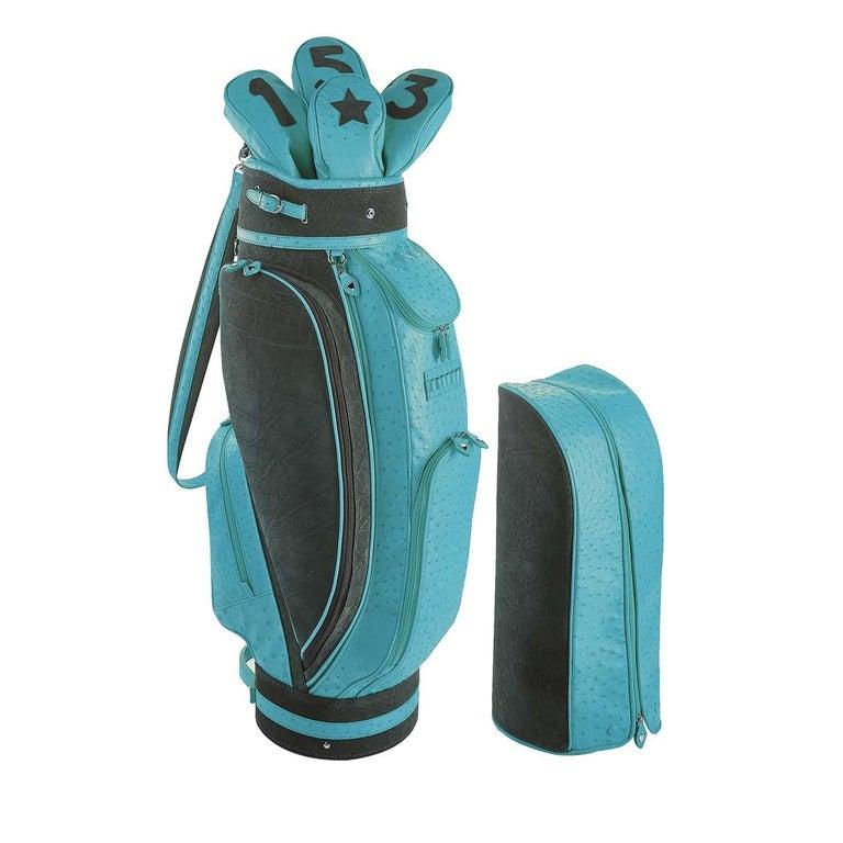 Italian Royal Light Blue Golf Bag by Barchi For Sale