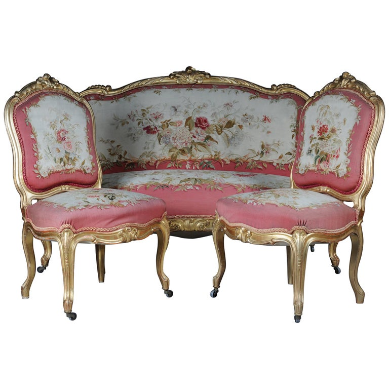 Amazing Royal Louis Xv Or Rococo Tapestry Sofa And Chairs Gold Napoleon Iii 1880 Pabps2019 Chair Design Images Pabps2019Com