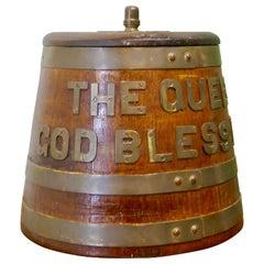 "Royal Navy ""Grog Tub"", Oak and Brass Sailor's Rum Barrel"