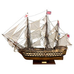 Royal Navy H.M.S. Victory Model Ship, Lord Nelson, Museum Quality