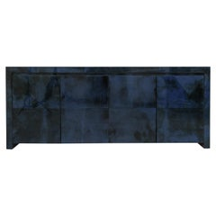 Royal Palm Lacquered Goatskin Credenza, USA