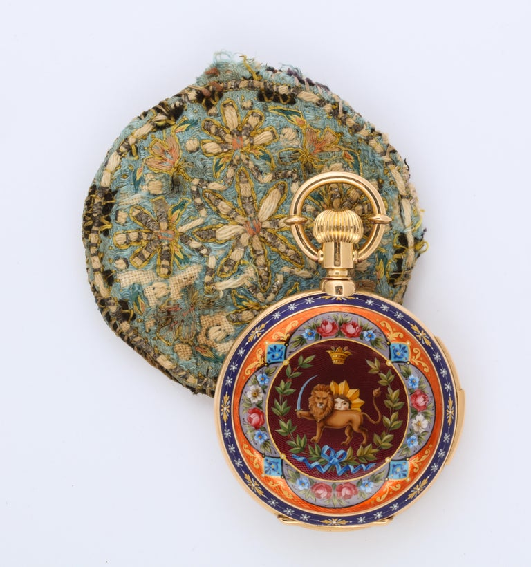 Royal Pocket Watch for Iranian Royalty In Excellent Condition For Sale In New York, NY