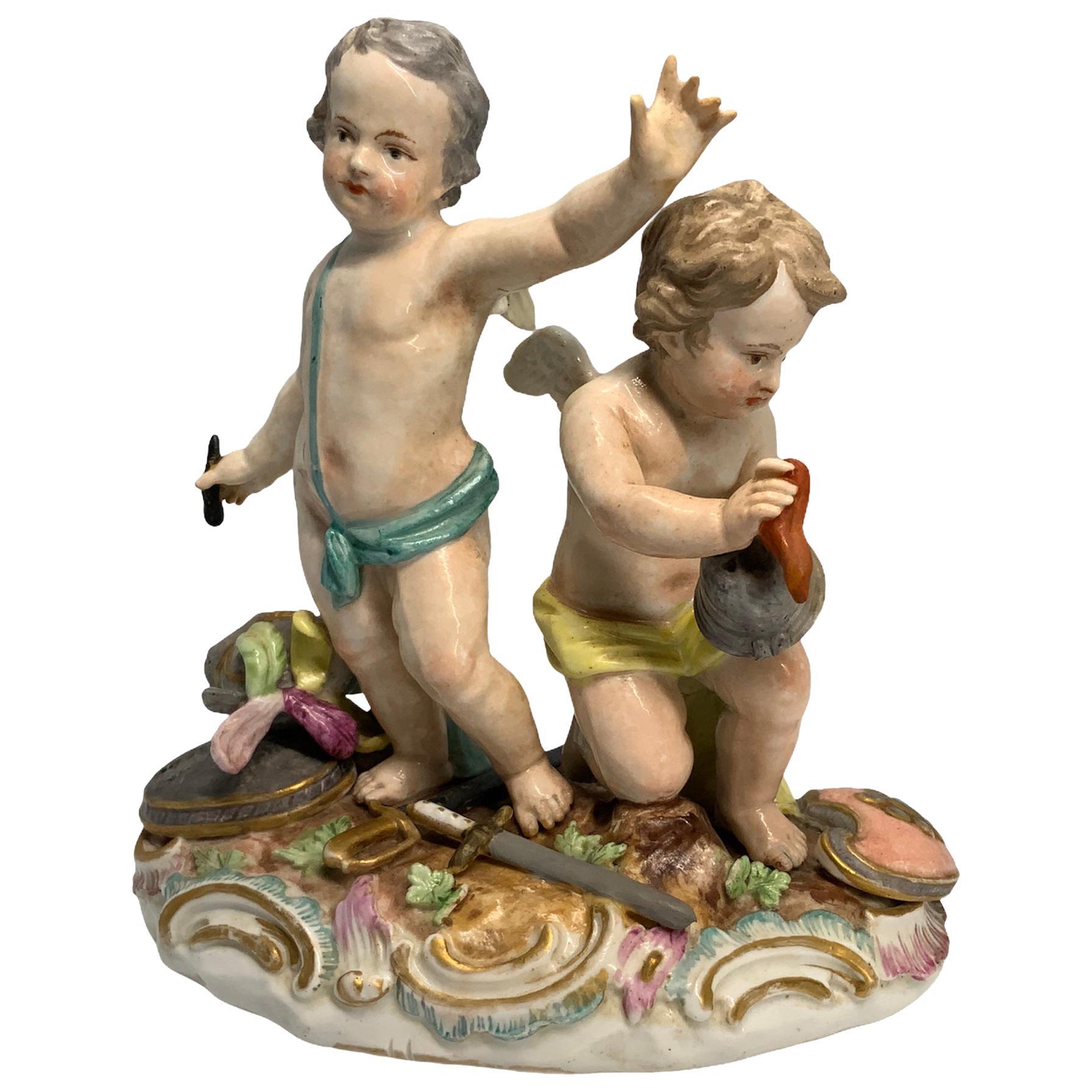 Royal Porcelain or State's Porcelain Manufactory 'KPM' Cherub's Sculpture