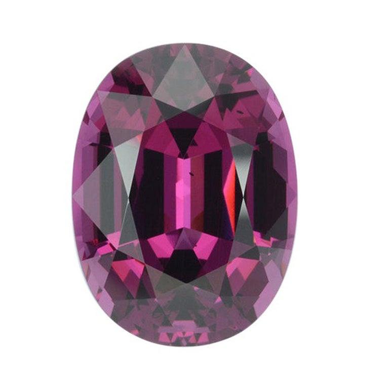 Royal Purple Garnet Ring Gem 14.24 Carat Unset Oval Loose Gemstone For Sale