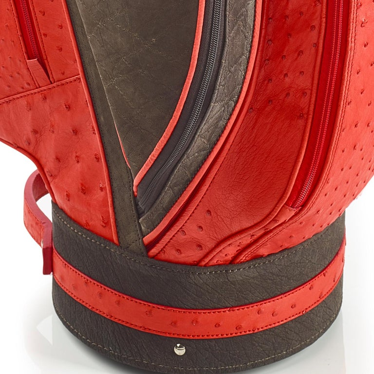 Modern Royal Red Golf Bag by Barchi For Sale