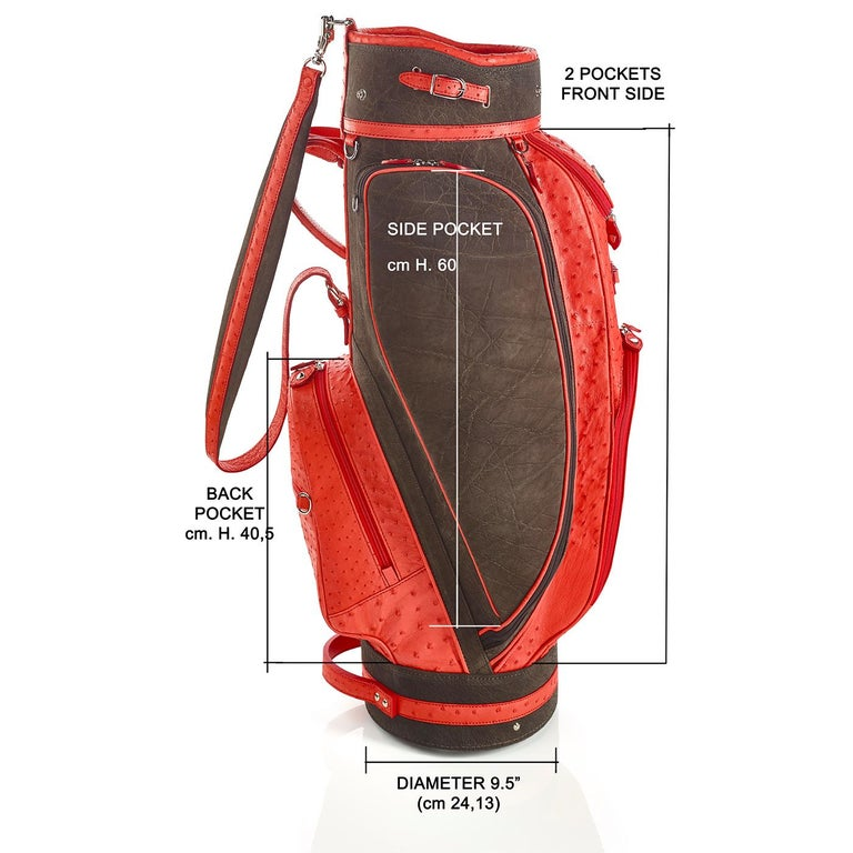Italian Royal Red Golf Bag by Barchi For Sale