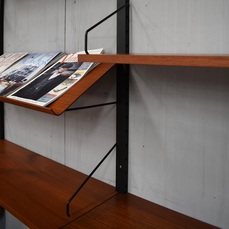 Royal Series Wall Unit by Poul Cadovius in Teak, Denmark, 1950s For Sale 9
