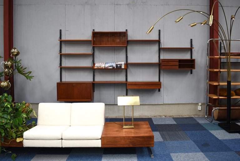 Danish Royal Series Wall Unit by Poul Cadovius in Teak, Denmark, 1950s For Sale