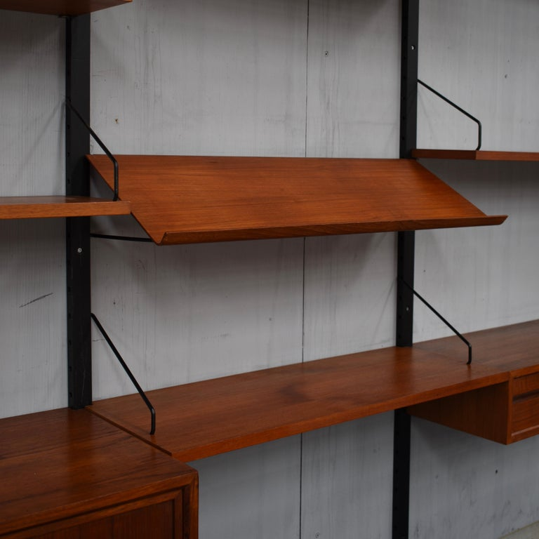 Mid-20th Century Royal Series Wall Unit by Poul Cadovius in Teak, Denmark, 1950s For Sale
