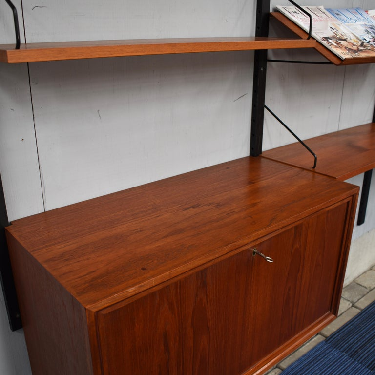 Royal Series Wall Unit by Poul Cadovius in Teak, Denmark, 1950s For Sale 1