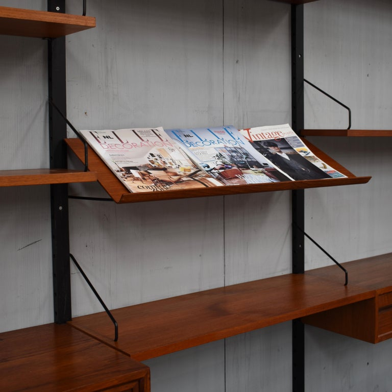 Royal Series Wall Unit by Poul Cadovius in Teak, Denmark, 1950s For Sale 2
