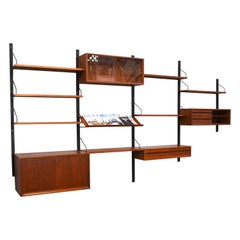 Royal Series Wall Unit by Poul Cadovius in Teak, Denmark, 1950s