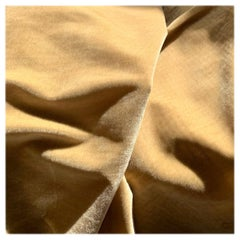 Royal Silk Velvet, Golden Tan, Cream Beige, Made in Italy