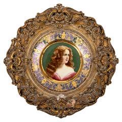 Royal Vienna Cabinet Plate, 19th Century