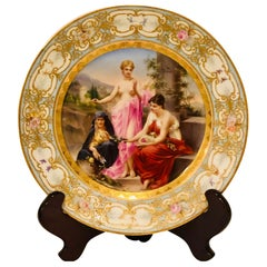 Royal Vienna Cabinet Plate Depicting Three Mythological Ladies Called the Fates