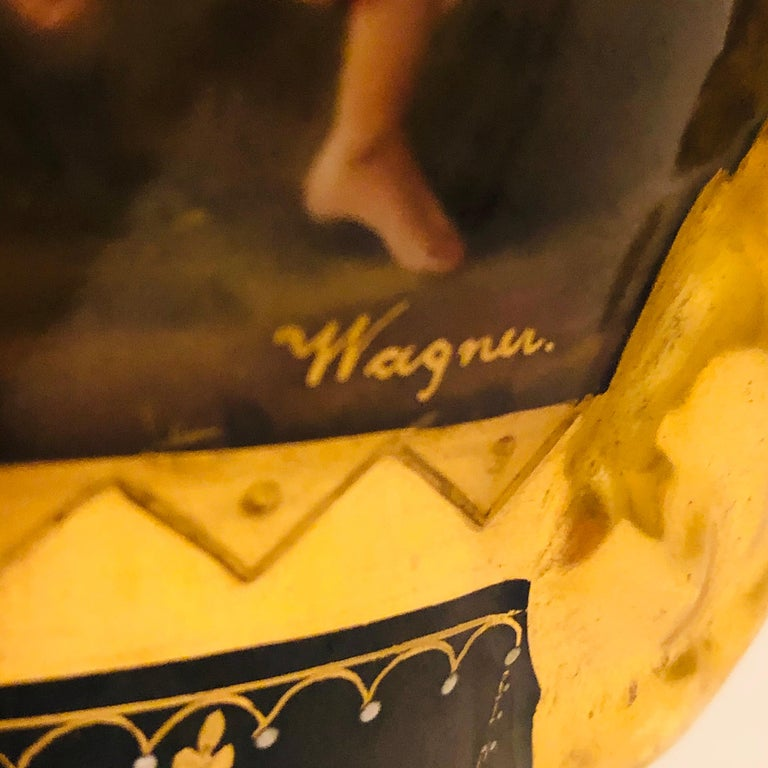 Royal Vienna Cobalt Urn with Museum Quality Paintings Artist Signed Wagner For Sale 5