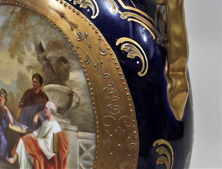 Austrian Royal Vienna Lidded Vase or Urn For Sale