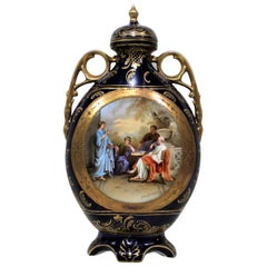 Royal Vienna Lidded Vase or Urn