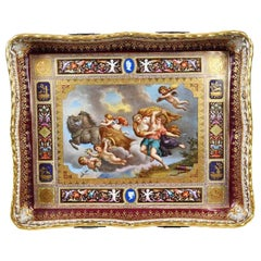 Royal Vienna Pierced Tray Depicting Cupid and the Charriot of Venus