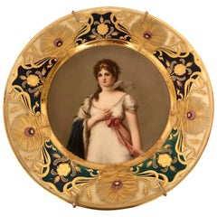 Royal Vienna Plate of Marie Louise Artist Signed Wagner