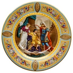 Royal Vienna Splendour Picture Plate 'Achilles and Ulysses' circa 1890