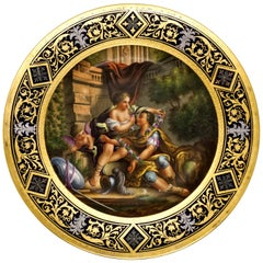 Royal Vienna Splendour Plate 'Roman Courting Scene With Cupid', circa 1890