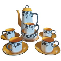 Royal Worcester Art Deco Aesthetic Movement Coffee Service