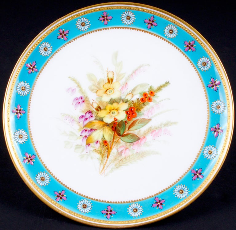 Royal Worcester Botanical Set In Good Condition For Sale In New York, NY