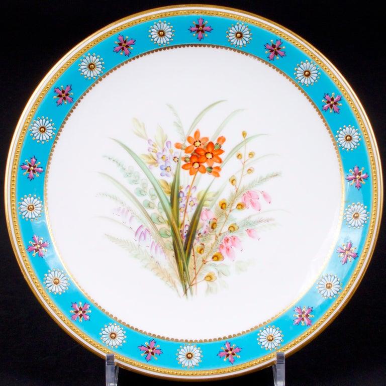Porcelain Royal Worcester Botanical Set For Sale