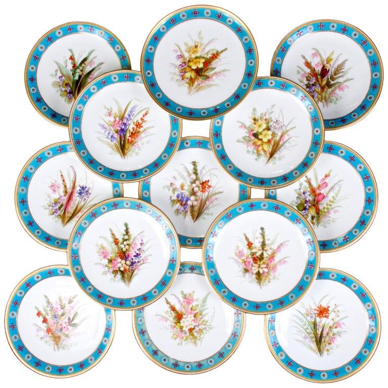 Royal Worcester Botanical Set For Sale