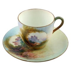 Royal Worcester China Cup & Saucer, 20th Century
