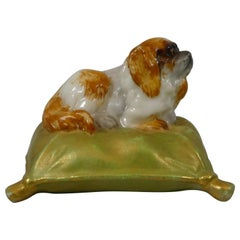 Royal Worcester King Charles Spaniel on a Cushion, Dated 1901