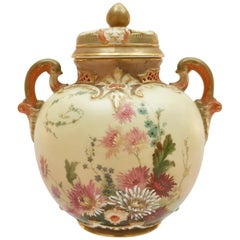 Royal Worcester Lidded Potpourri Pot, Blush Ivory, 1914