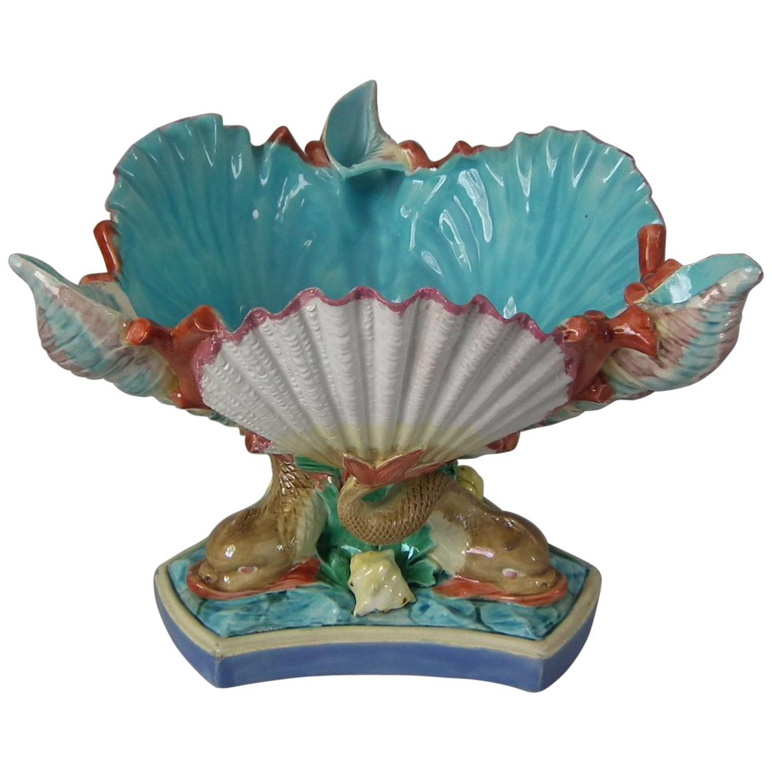 Royal Worcester Majolica Centrepiece Bowl