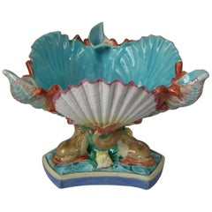 Royal Worcester Majolica Centrepiece Bowl