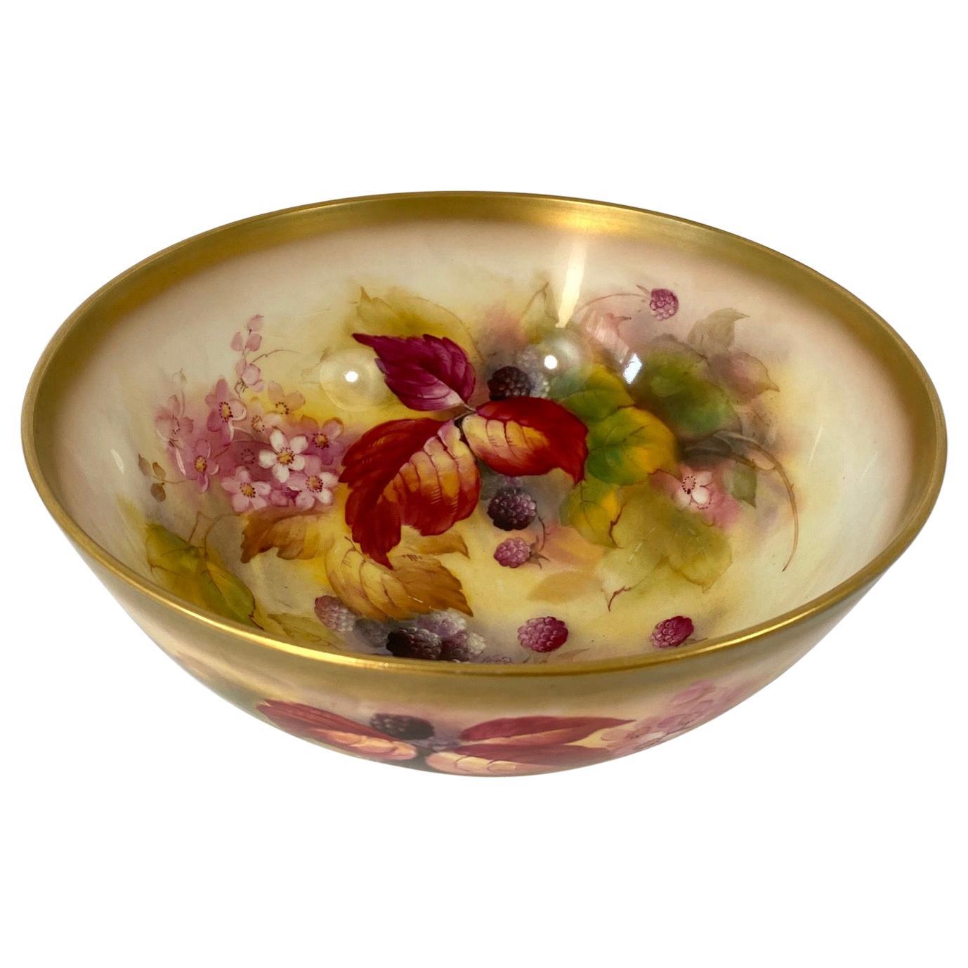 Royal Worcester Porcelain Bowl, Kitty Blake, Dated 1930