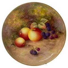 Royal Worcester Porcelain 'Fruit' Plate, Harry Ayrton, Dated 1933
