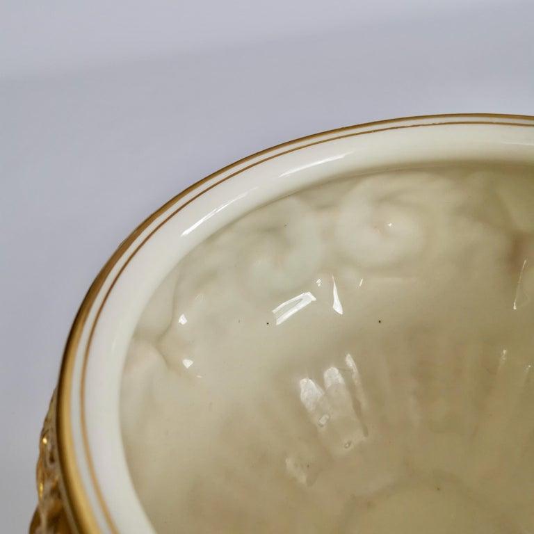 Royal Worcester Porcelain Jardiniere, Gilt, Blush Ivory and Masks, 1892-1920 For Sale 7