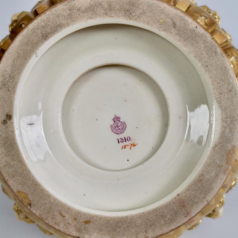 Royal Worcester Porcelain Jardiniere, Gilt, Blush Ivory and Masks, 1892-1920 For Sale 8