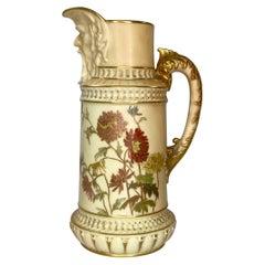 Royal Worcester Porcelain 'Mask' Jug, Dated 1889