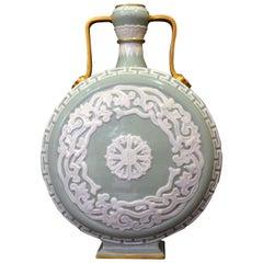 Royal Worcester Porcelain Moon Flask, circa 1880