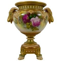 Royal Worcester Porcelain Vase, Dated 1917