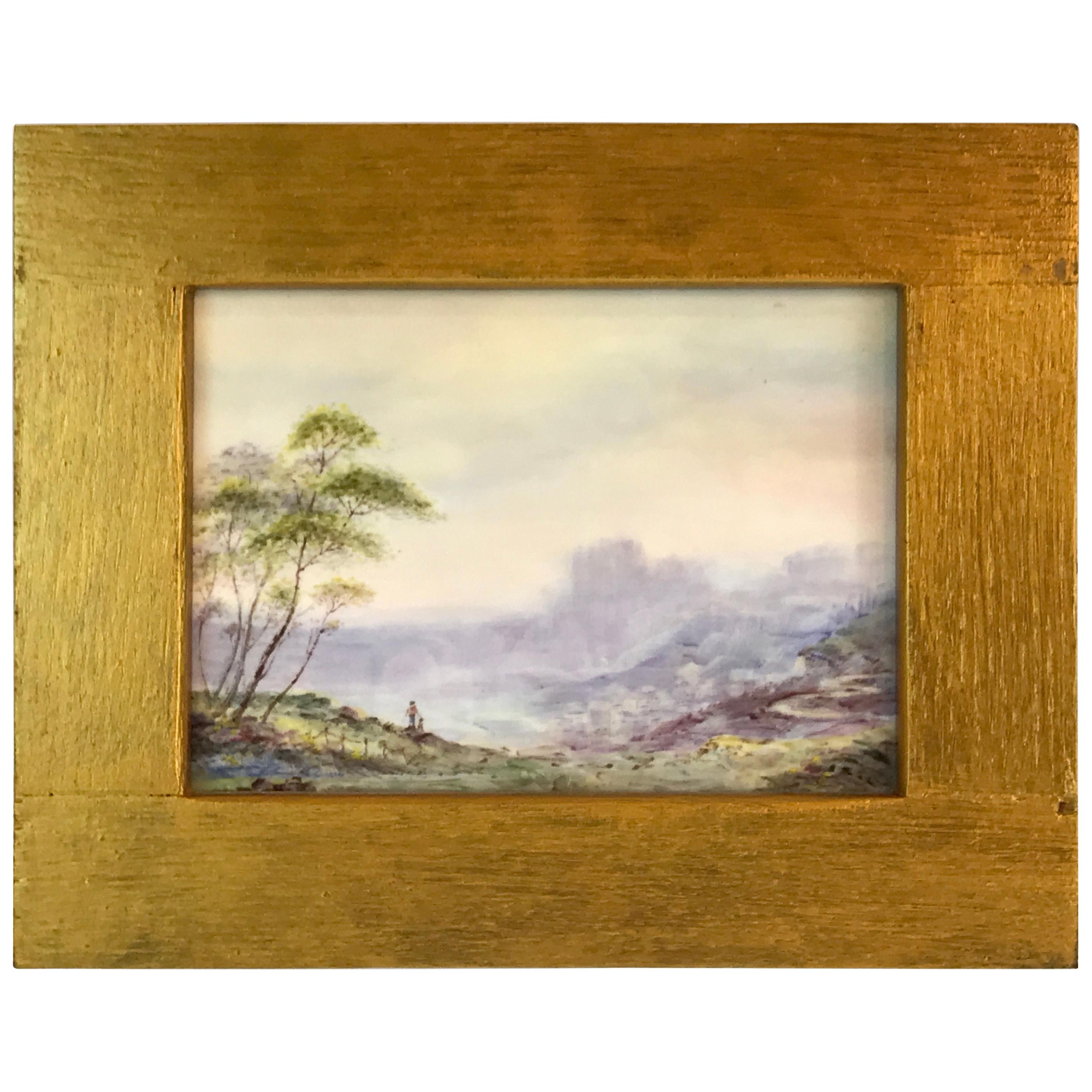 Royal Worcester Scenic Plaque by Richard Lewis